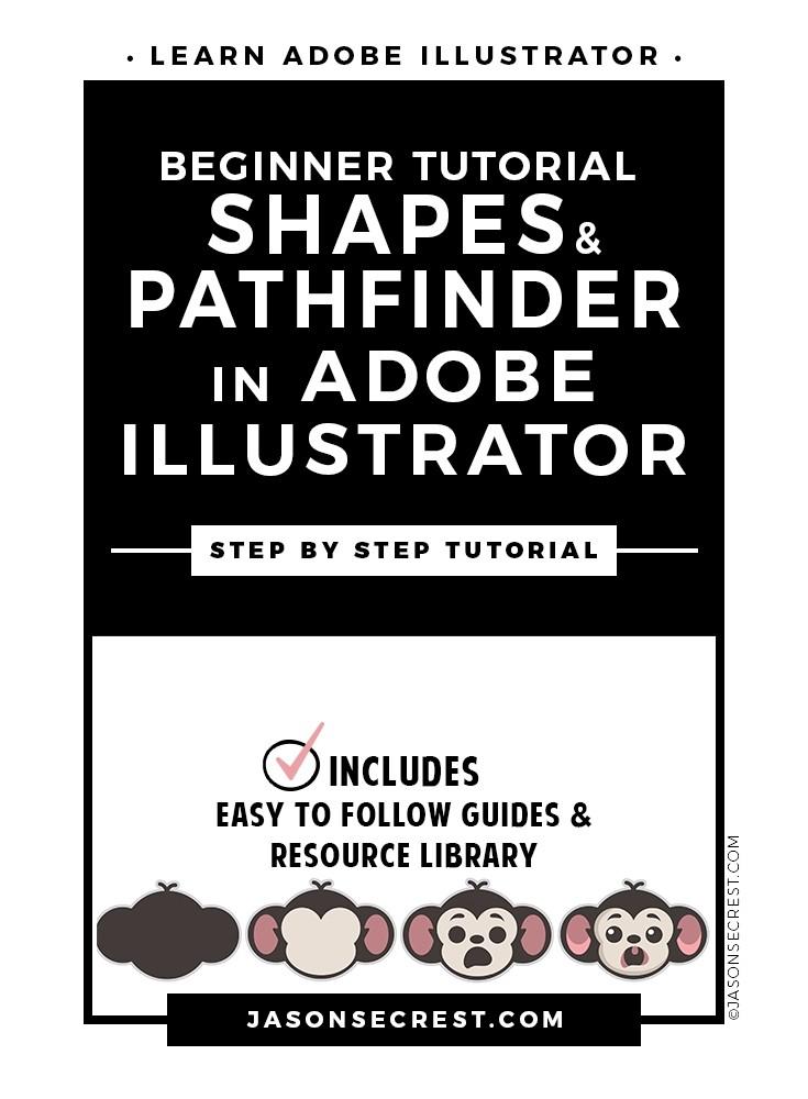 Beginner Illustrator Tutorial using Shapes Pathfinder