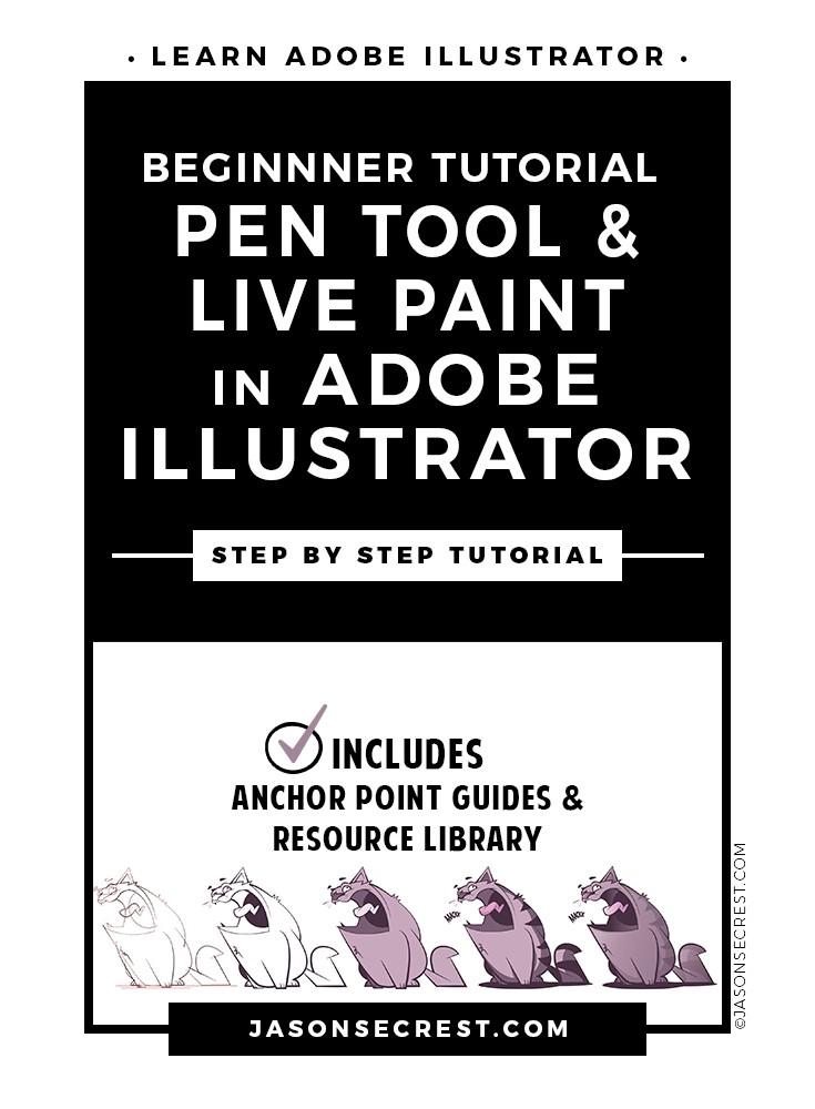 Beginner Illustrator Pen Tool Tutorial