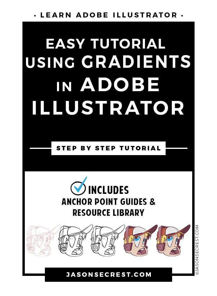 easy illustrator tutorial using gradients
