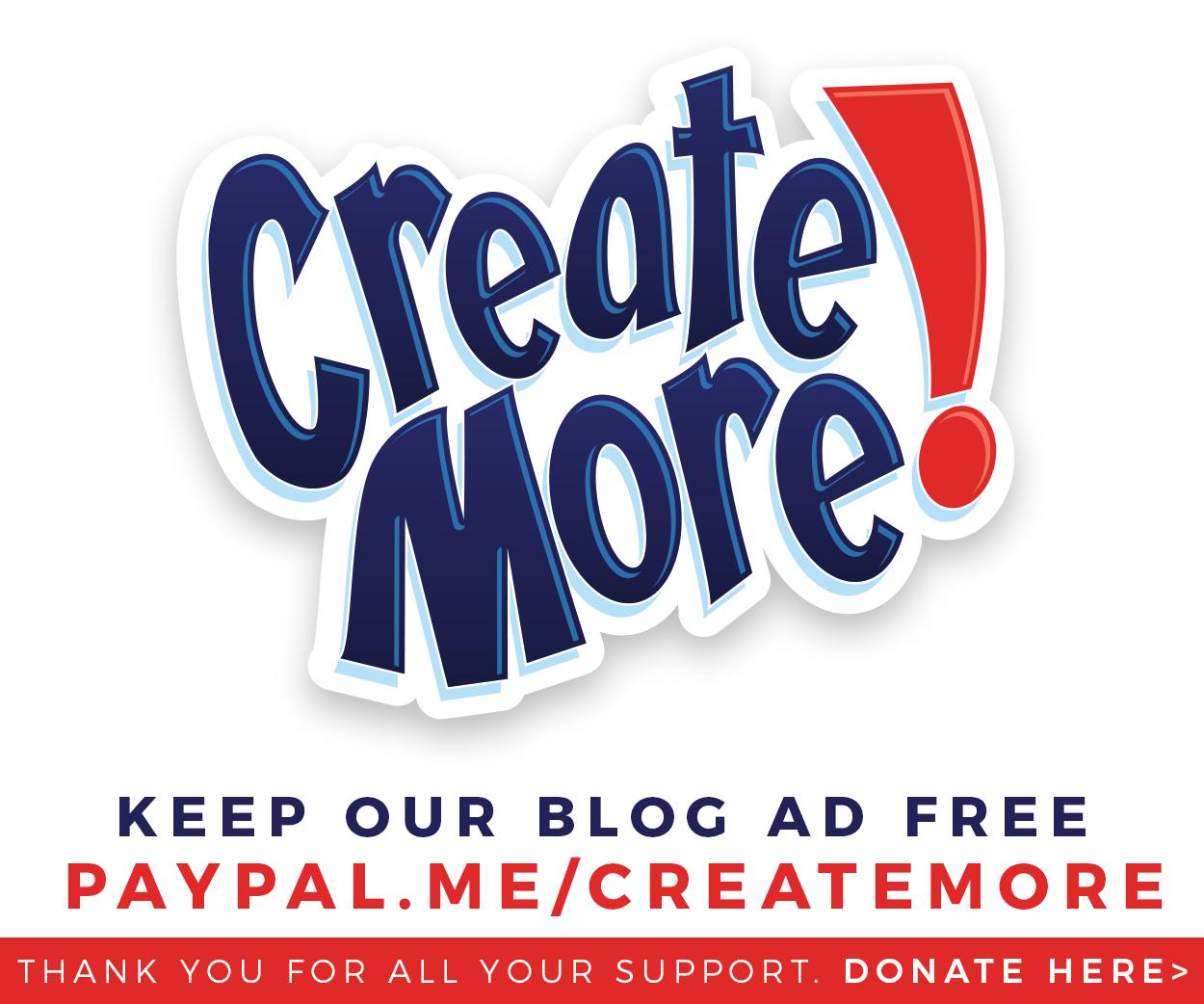 Donate at paypal.me/createmore